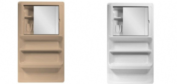 LARGE K212 BATHROOM CABINET - White or Peach
